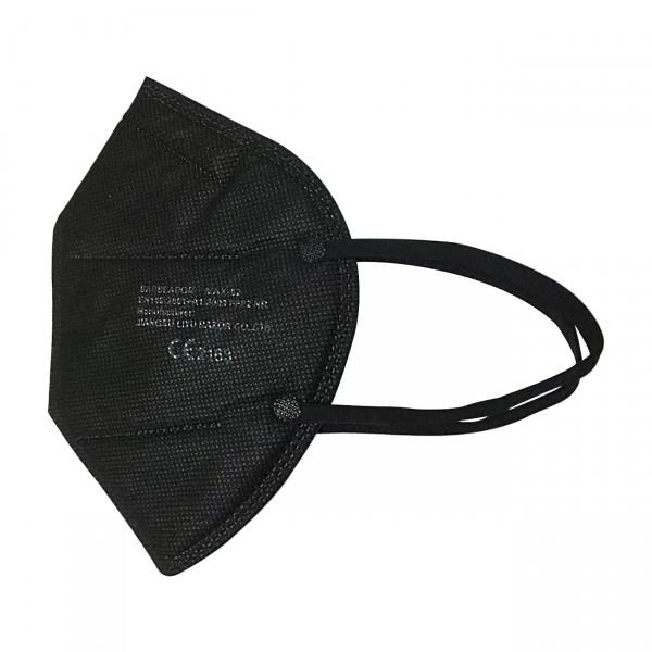 FFP2 Maske (Box 20 Stk) - Große M (Jugendlich) Farbe: Schwarz