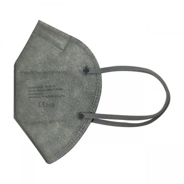 FFP2 Maske (Box 20 Stk) - Große M (Jugendlich) Farbe: Grau