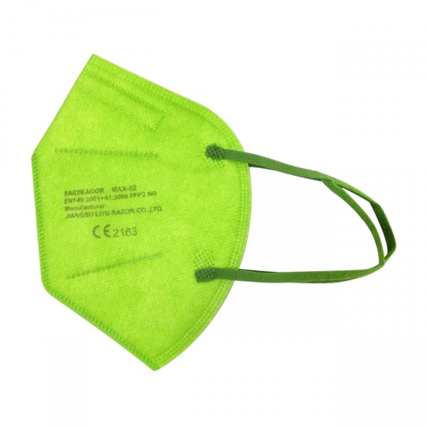 Medizinische Maske - L - (Box 50 Stk) - Farbe: Grün/Blau/Orange