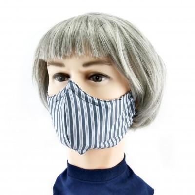 Gesichtsmaske - Blau weiss gestreift