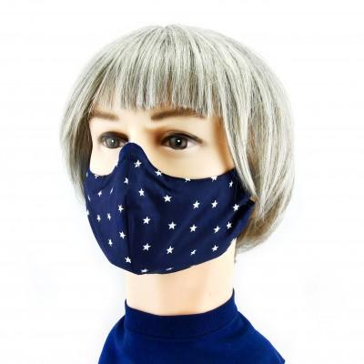 Gesichtsmaske - Nachtblau mit Sternchen