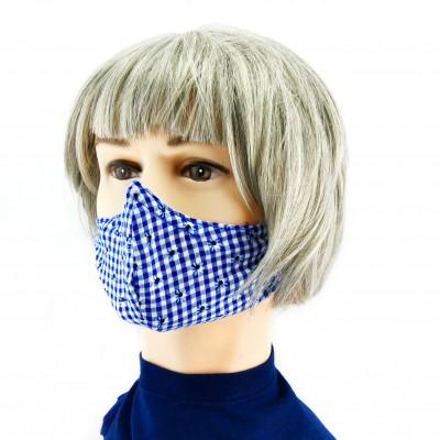 Gesichtsmaske - Oktoberfest Blauweiss
