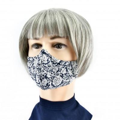 Gesichtsmaske - Blau/weißes Paisley