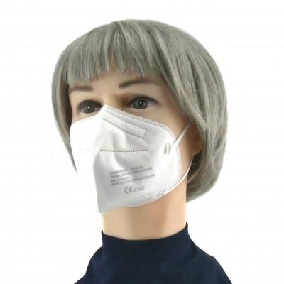 FFP2 Maske (Box 20 Stk) - Große M (Jugendlich) Farbe: Weiß